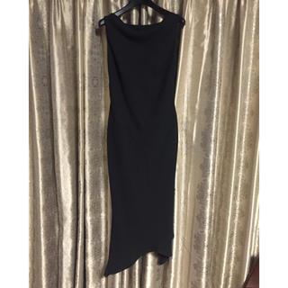 ザラ(ZARA)の美品  ブラックドレス(ロングドレス)
