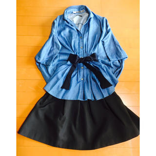 サカヨリ(sakayori)のサカヨリ リボンシャツ(シャツ/ブラウス(半袖/袖なし))