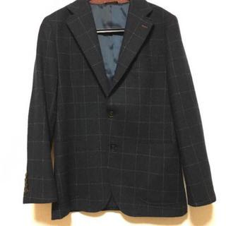 コムサイズム(COMME CA ISM)のコムサイズム ウィンドウペン ジャケット スーツ L メンズ(スーツジャケット)