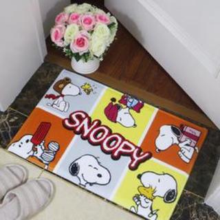 スヌーピー(SNOOPY)のスヌーピー SNOOPY バスマット 玄関マット 犬 わんちゃん(玄関マット)