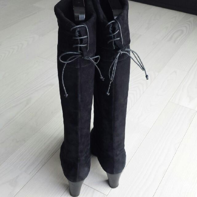 PELLICO(ペリーコ)のPELLICO ペリーコ ロング ブーツ ブラック スエード レディースの靴/シューズ(ブーツ)の商品写真