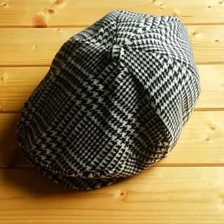 アーティズ(Artyz)のハンチング帽 千鳥格子柄(ハンチング/ベレー帽)