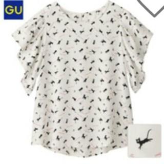 ジーユー(GU)のGU/Wプリントブラウス/半袖/ルナ(シャツ/ブラウス(半袖/袖なし))