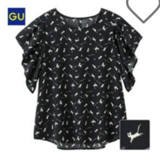 ジーユー(GU)のGU/Wプリントブラウス/半袖/アルテミス(シャツ/ブラウス(半袖/袖なし))