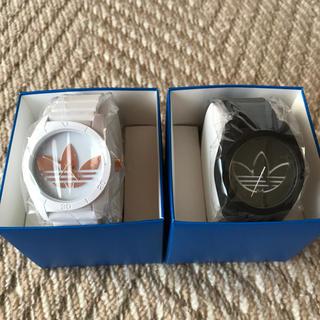 アディダス(adidas)の【新品未使用】adidas 白黒 腕時計(腕時計(アナログ))
