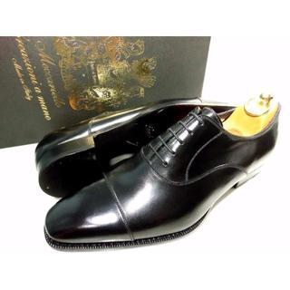 リーガル(REGAL)の【新品】メッカリエロ ストレートチップ 革靴 7 黒スト(ドレス/ビジネス)