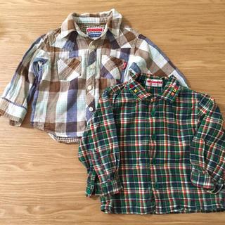 ミキハウス(mikihouse)のベビー長袖シャツ 2枚セット 80(シャツ/カットソー)