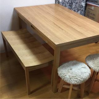 ムジルシリョウヒン(MUJI (無印良品))のunico ダイニングテーブルセット(ダイニングテーブル)