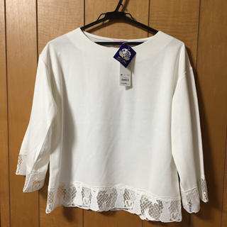 ジーユー(GU)の送料無料 gu レースコンビT 白 セーラームーン 7分袖 Mサイズ(Tシャツ(長袖/七分))