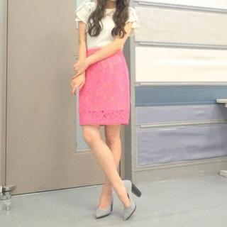 デイシー(deicy)の【未使用】deicy レースタイトスカート【ピンク】(ミニスカート)
