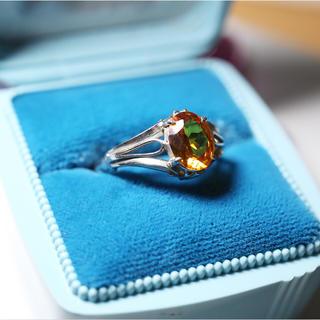 オレンジ色の石 ☆ビンテージリング(リング(指輪))