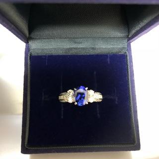 ジュエリーツツミ(JEWELRY TSUTSUMI)のpt900 タンザナイトリング 美品(リング(指輪))