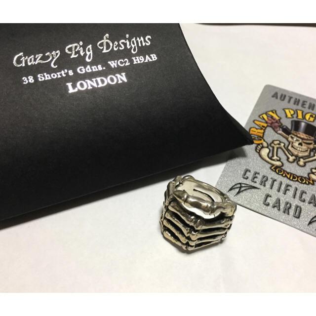CRAZY PIG(クレイジーピッグ)の新品 Crazy Pig Designs ボーンハンドリング クレイジーピッグ メンズのアクセサリー(リング(指輪))の商品写真