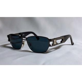 ジャンニヴェルサーチ(Gianni Versace)の正規 ヴェルサーチ メデューサロゴ オープンメタルサングラス 黒×クローム 眼鏡(サングラス/メガネ)