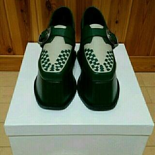 パメオポーズ(PAMEO POSE)のPAMEOPOSEワルツダンスシューズ グリーン 36(ローファー/革靴)
