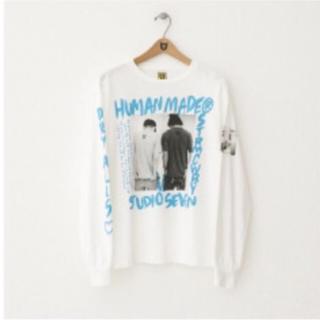サンダイメジェイソウルブラザーズ(三代目 J Soul Brothers)のHuman made studio seven  ロンT ブルー Mサイズ(Tシャツ/カットソー(七分/長袖))