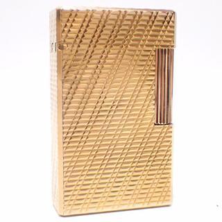 エステーデュポン(S.T. Dupont)のA357 美品 エステーデュポン ライン1 ゴールド ガスライター オーバーホー(タバコグッズ)