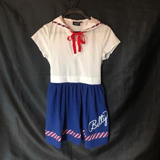 Betty☆美品セーラー☆ラブレターワンピ●150(ワンピース)