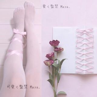 編み上げダイアリー手帳 と 白タイツ/ストッキング(その他)