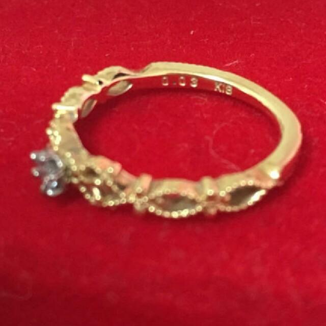 agete(アガット)のagete♥18kピンキーリング定価5万円 レディースのアクセサリー(リング(指輪))の商品写真