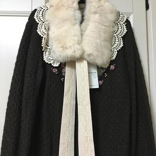 アクシーズファム(axes femme)のアクシーズ リアルファー付け襟 未使用タグ付き(つけ襟)