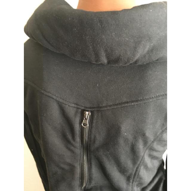 新品未使用 黒 スエット ショールカラー ジャケット ダブルジッパー  レディースのジャケット/アウター(ライダースジャケット)の商品写真