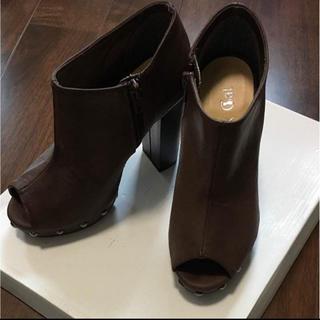 秋色ブラウン ショートブーツ(ブーツ)