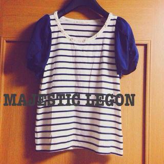 マジェスティックレゴン(MAJESTIC LEGON)のマジェスティックレゴン*ボーダートップス(Tシャツ(半袖/袖なし))