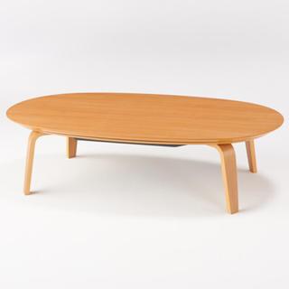 ムジルシリョウヒン(MUJI (無印良品))の楕円こたつ・本体・タモ材曲木脚・フラットヒーター/ナチュラル (こたつ)