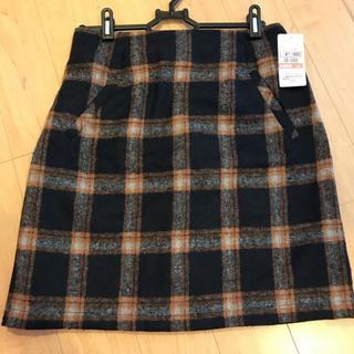 シマムラ(しまむら)のタグ付き新品*チェック柄台形スカート(ミニスカート)