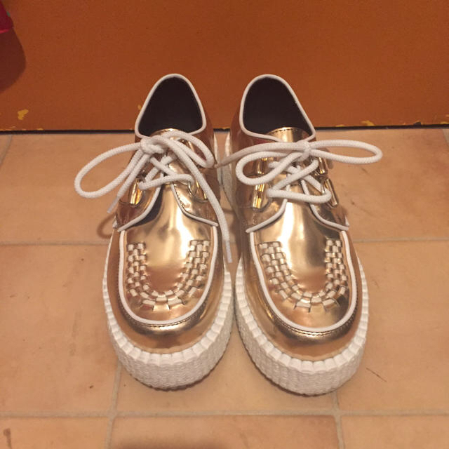 UNDERGROUND(アンダーグラウンド)の松竹梅様専用:美品 厚底シューズ レディースの靴/シューズ(ローファー/革靴)の商品写真