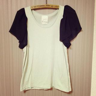 カスタネ(Kastane)の袖シフォンTシャツ♡期間限定SALE♪♪(Tシャツ(半袖/袖なし))