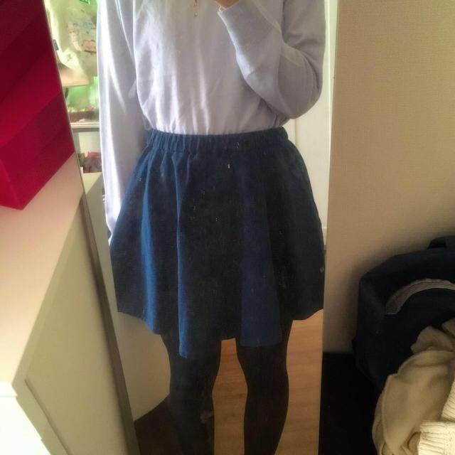 LOWRYS FARM(ローリーズファーム)のローリーズファーム*デニム風フレアスカート レディースのスカート(ミニスカート)の商品写真