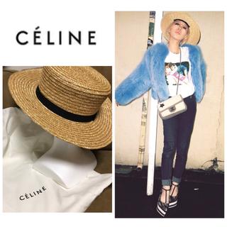 セリーヌ(celine)のCÉLINE セリーヌ 加藤ミリヤ着用 かんかん帽 ハット(ハット)