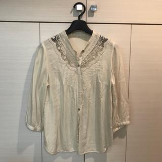 アーバンリサーチ(URBAN RESEARCH)の綿とシルクの7部袖ブラウス(シャツ/ブラウス(長袖/七分))