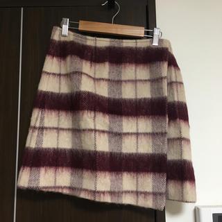マーキュリーデュオ(MERCURYDUO)のチェック 巻き風スカート(ミニスカート)