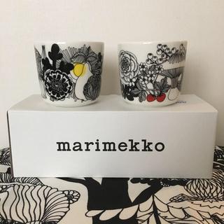 マリメッコ(marimekko)のmarimekko マリメッコ 人気のラテマグ2点新品送料込(グラス/カップ)