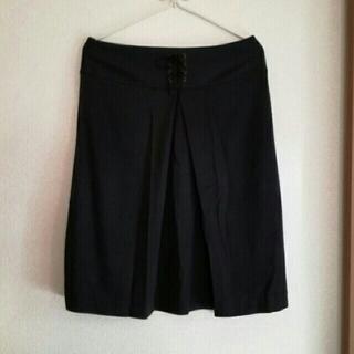 プーラフリーム(pour la frime)のpour la frime  スカート ブラック  M(ひざ丈スカート)