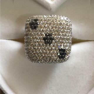18金 ホワイトゴールド ダイヤモンド ブラックダイヤモンド 指輪 未使用品(リング(指輪))