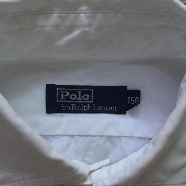 POLO RALPH LAUREN(ポロラルフローレン)のPolo ワイシャツ 白 150cm キッズ/ベビー/マタニティのキッズ服 男の子用(90cm~)(ドレス/フォーマル)の商品写真