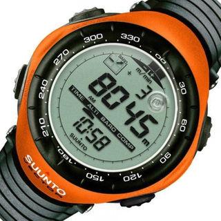 スント(SUUNTO)のスントベクター時計☆登山家やプロも使う機能充実!高度・気圧・温度・方位 オレンジ(腕時計)