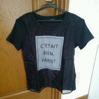 ミスティウーマン(mysty woman)のシースルーロゴT(Tシャツ(半袖/袖なし))