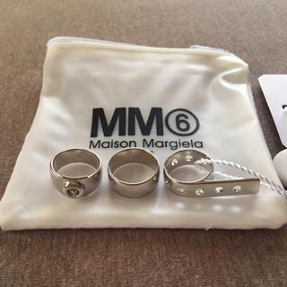 マルタンマルジェラ(Maison Martin Margiela)の16SS新品S マルジェラ MM6 3連リング(リング(指輪))
