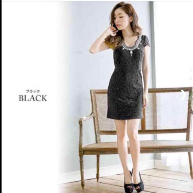 JEWELS(ジュエルズ)のJEWELS ビジュー付き タイトミニドレス 黒 レディースのフォーマル/ドレス(ミニドレス)の商品写真