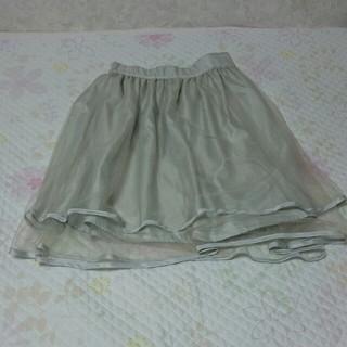 リズリサ(LIZ LISA)のグレー オーガンジー チュール スカート(ひざ丈スカート)