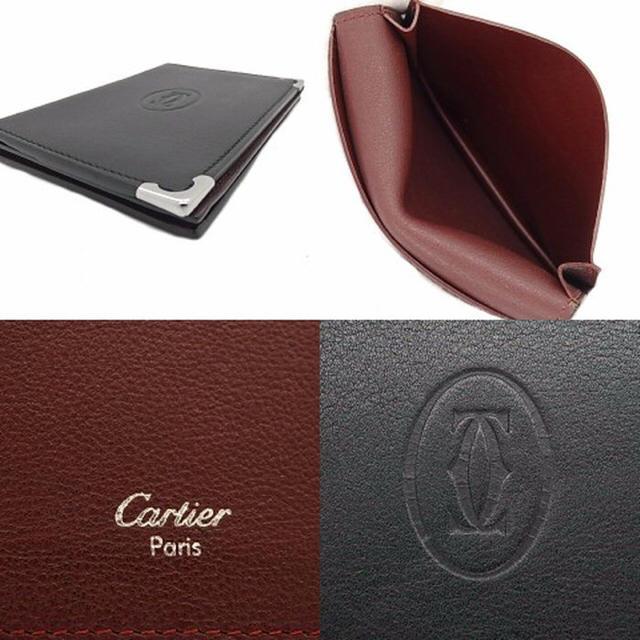 Cartier(カルティエ)のカルティエ マストライン 名刺入れ カードケース 名刺入れ カーフレザー  黒 メンズのファッション小物(名刺入れ/定期入れ)の商品写真