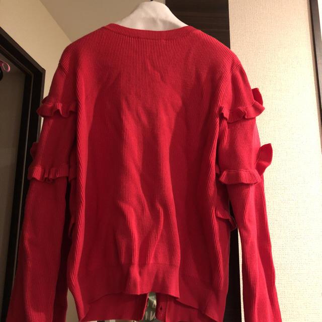 RED VALENTINO(レッドヴァレンティノ)の♡ RED VALENTINO フリル ニット 超美品 レディースのトップス(カーディガン)の商品写真