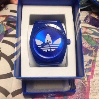 アディダス(adidas)のadidas✳︎青×白ウォッチ(腕時計)