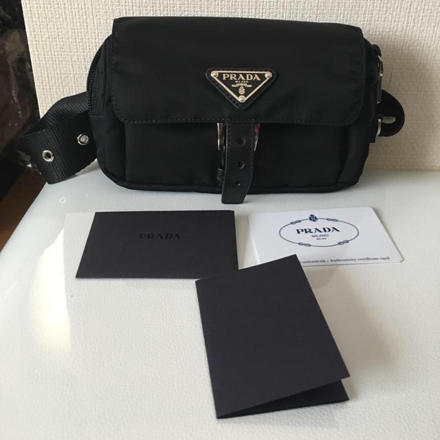 PRADA(プラダ)のプラダ ウエストポーチ ナイロン ブラック レディースのバッグ(ボディバッグ/ウエストポーチ)の商品写真