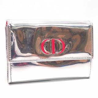 クリスチャンディオール(Christian Dior)のA409【美品】ディオール Dior エナメル シルバー ポーチ レディース(ポーチ)